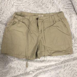 Tan drawstring shorts